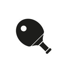 The tennis icon ping pong symbol flat vector