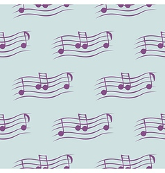 Seamless pattern with notes vector
