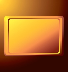 Empty the gold rectangular medal against the light vector