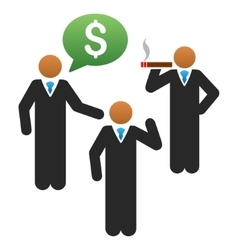 Market talking managers gradient icon vector