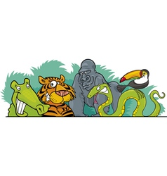 Cartoon jungle wild vector