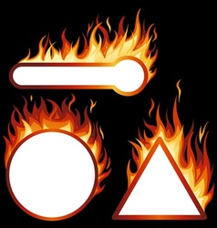 Flame frames vector