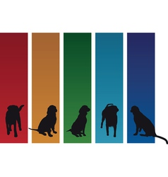 Colourful dogs vector