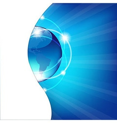 Abstract Blue Background With Globe vector image
