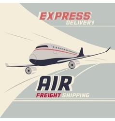 Air freight international shipping vector