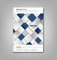 Brochures book or flyer with abstract blue white vector image vector image