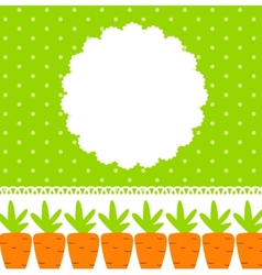 Carrot Cute Frame vector image vector image