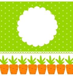 Carrot Cute Frame vector image