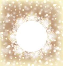 Christmas round frame made in snowflakes on vector image