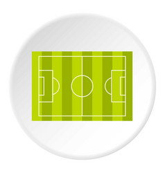 Football or soccer field icon circle vector