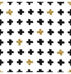 Hand drawn cross shapes seamless pattern vector