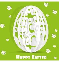 Happy Easter egg openwork appliques postcard vector image