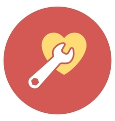 Heart Surgery Flat Round Icon vector image