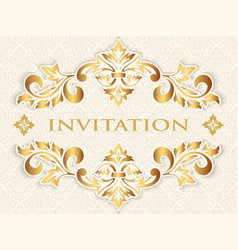 Invitation cards or wedding card vector