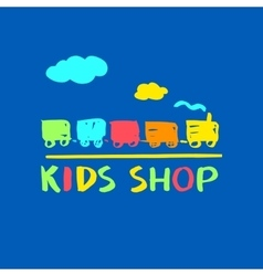 Logo template for kids shop and market vector image