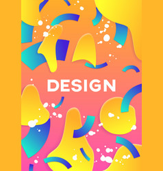 modern abstract poster cover vector image