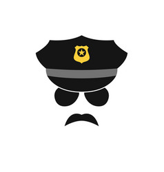 Policeman avatar police officer icon vector