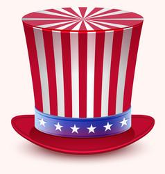 Presidents Day Washingtons Birthday Uncle Sams vector image