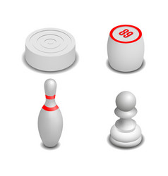 realistic game icons in isometric style vector image vector image