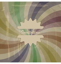 retro invitation vector image vector image