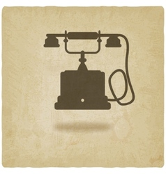 retro phone old background vector image vector image