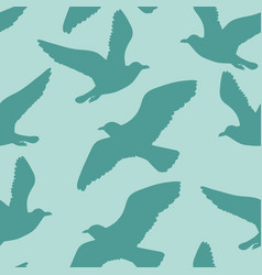 seamless pattern with seagulls vector image
