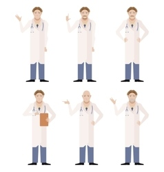 Set of doctors vector image vector image