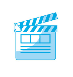 Silhouette clapperboard to short film projection vector