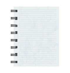 square blank notebook sheet element vector image