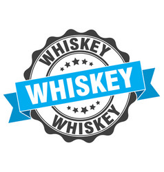 Whiskey stamp sign seal vector