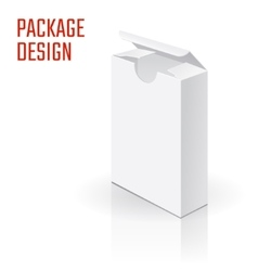 White Product Cardboard A vector image vector image