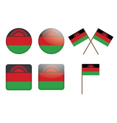 Badges with flags of malawi vector