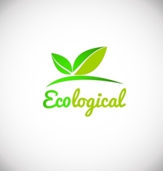 Ecological green leaf logo icon design vector