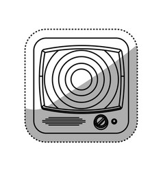 old television media vector image