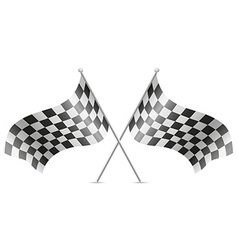 checkered flag for car racing 02 vector image