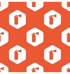 Orange hexagon fire extinguisher pattern vector