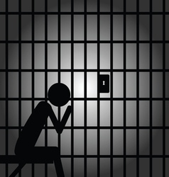 Man in jail vector