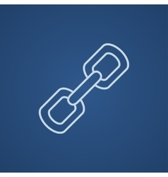 Chain links line icon vector