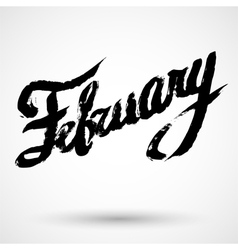 Modern calligraphy pen lettering february vector
