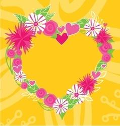 Flower heart frame text insertion vector