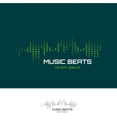 Music beats logo vector
