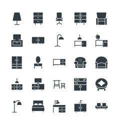 Furniture cool icons 1 vector