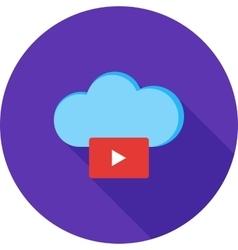 Videos on cloud vector