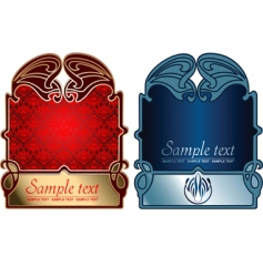 Red and blue gold covers vector