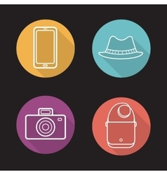 Mens accessories icons vector