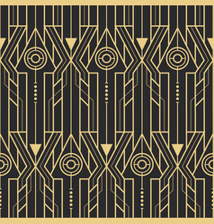 Abstract art deco techno seamless pattern vector