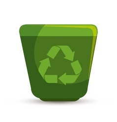 arrows recycle ecology icon vector image vector image
