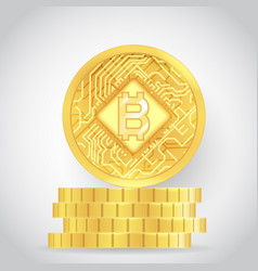 bitcoin technology digital money internet currency vector image
