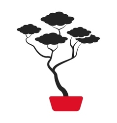 Bonsai tree japanese ornament icon vector