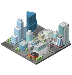 City downtown concept vector